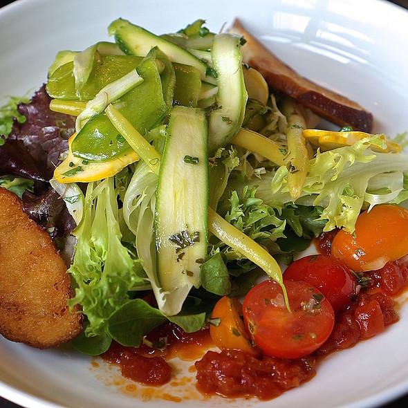 NoMI Greens – spring vegetables, tomato concasse, cabernet vinaigrette - NoMI, Chicago, IL