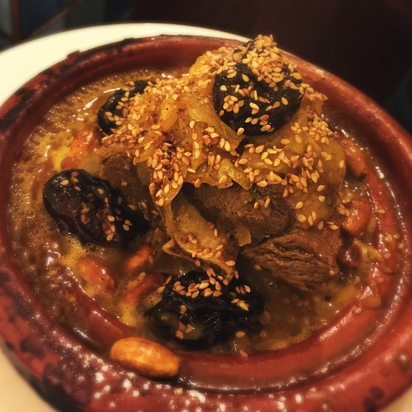 Lamb Tangine With Prunes And Almonds @ L'Etoile Marocaine