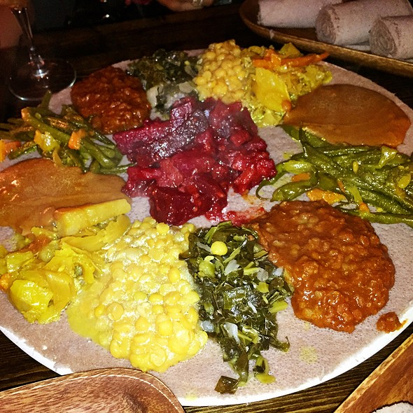 Vegetarian Combination For Two @ Injera