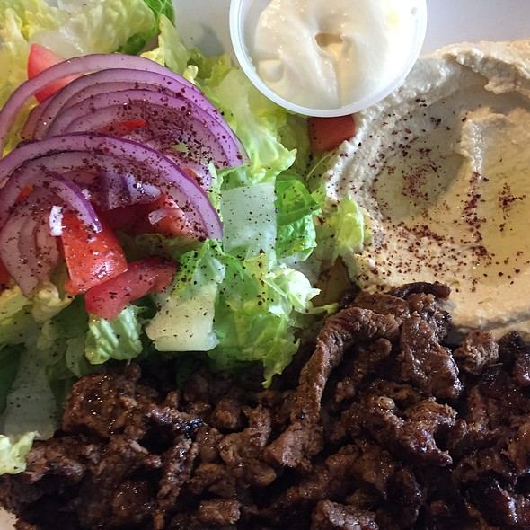 Shawarma Plate with Lamb @ Beirut Falafal Hut