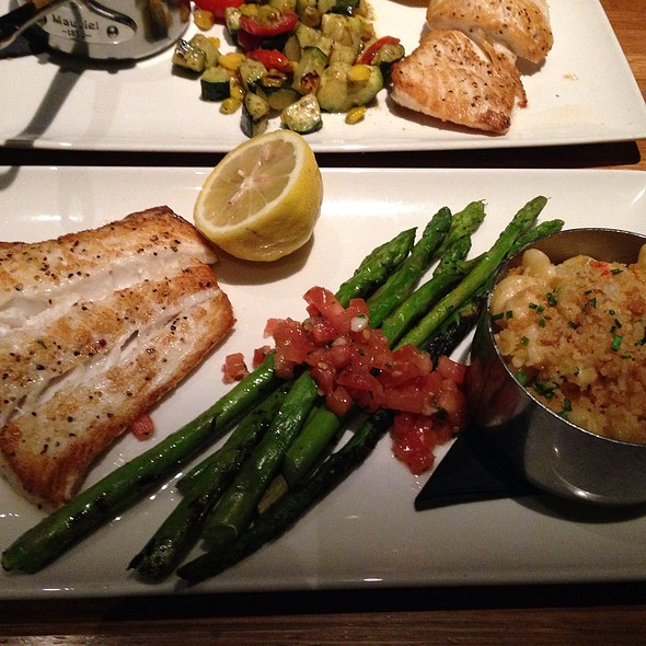 Halibut, Asparagus, Lobster Macaroni - Devon Seafood + Steak - Hershey, Hershey, PA
