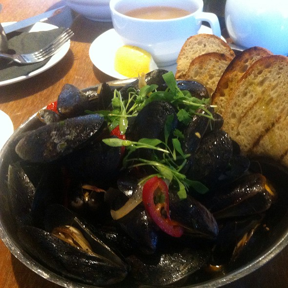 Mussels With Red Chile & Chorizo Broth