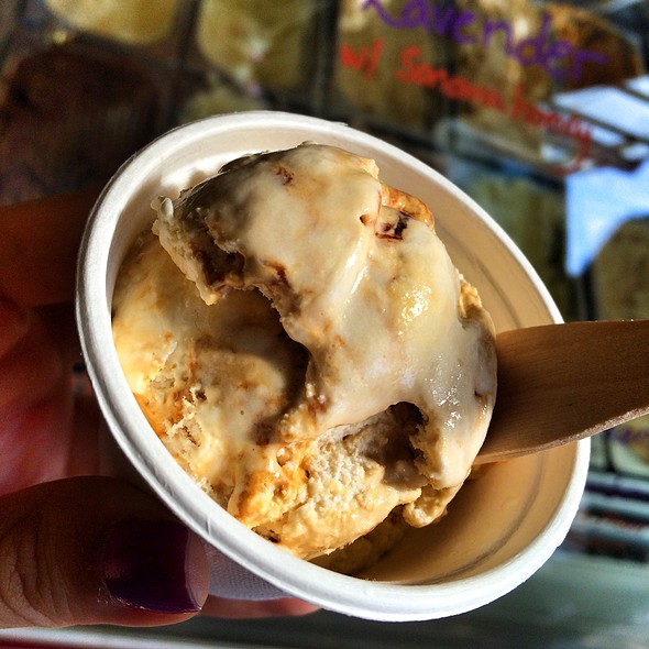 Lavender Honey & Brown Sugar Caramel Ice Cream