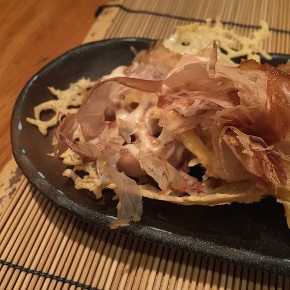 Lotus Root With Cheese And Bonito Flakes @ Azabu