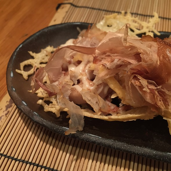 Lotus Root With Cheese And Bonito Flakes @ Azabu