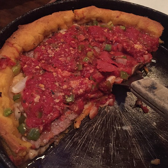 Deep Dish Crumble Sausage Pizza @ Gino's East