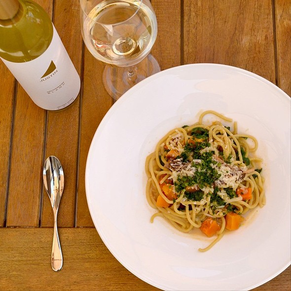 bucatini pasta - The Restaurant at JUSTIN Vineyards & Winery, Paso Robles, CA