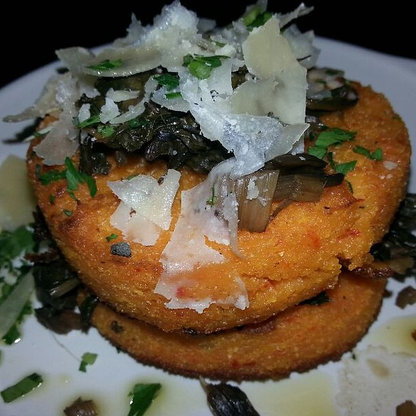 Red Pepper Polenta Cakes - Stella Modern Italian Cuisine, Oklahoma City, OK