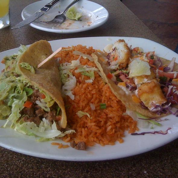Chamorro de Puerco (Pork) & Taco en Salsa Pasilla  - La Fiesta, San Diego, CA