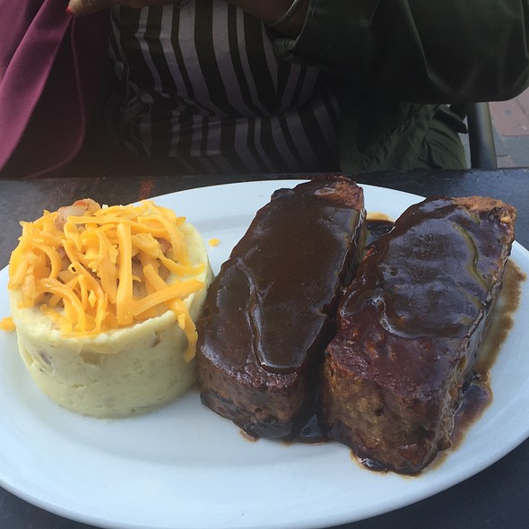 Homemade Meat Loaf With Bacon And Cheddar Cheese Mash Potato Tower - Marmont Steakhouse, Philadelphia, PA