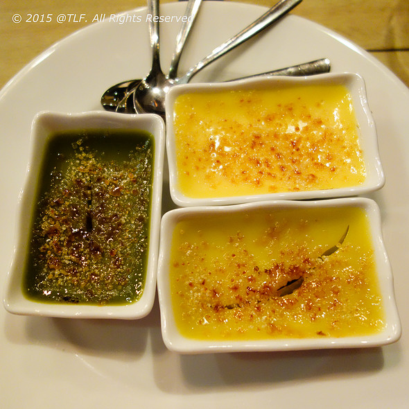 3 Flavors of Creme Brulee @ Nha Restaurant