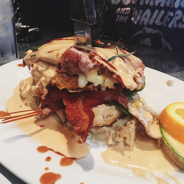 Andy's Sage Fried Chicken Benedict