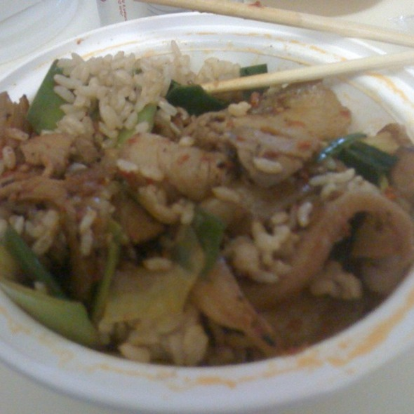 Double Cooked Sliced Pork Belly @ Szechuan Gourmet
