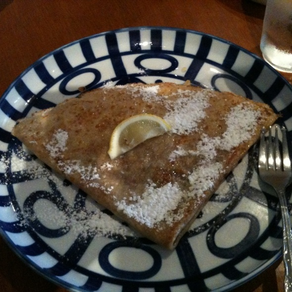 Butter & Sugar Crepe With Lemon