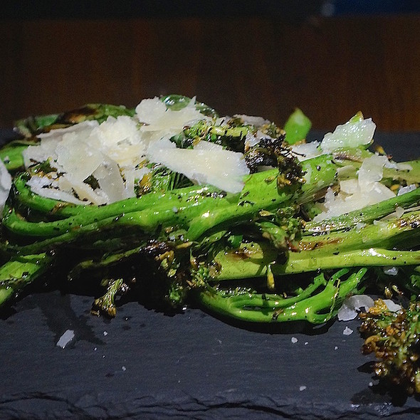Grilled broccolini, meyer lemon, scallions, shaved parmesan - Southport and Irving, Chicago, IL