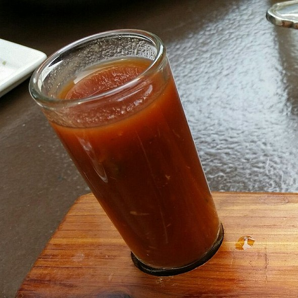 Bloody Mary Oyster Shooters - Terrapin Restaurant, Rhinebeck, NY