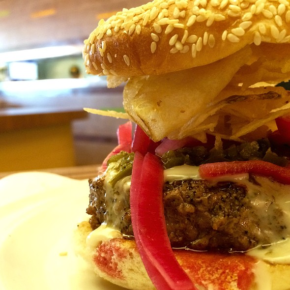 New Mexico Burger at Bobby's Burger Palace