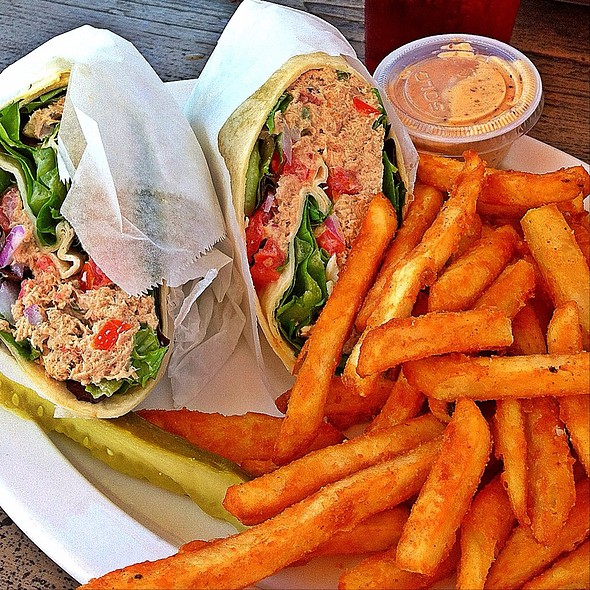 Albacore Tuna Wrap With Remoulade Sauce And Fries @ Beachcomber