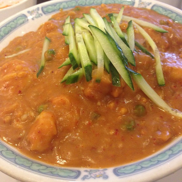 Seafood Combination Noodles With Spicy Peanut Sauce @ San Tung