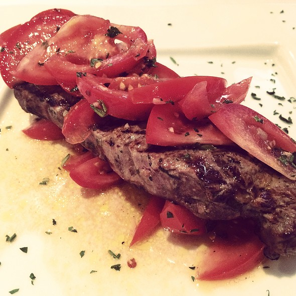 Grilled Ny strip steak @ Rachel's Cafe