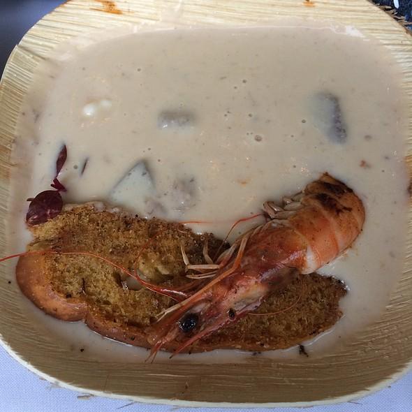 Kualoa Salt Water Shrimp Chowder With Ulu Crostini @ Kualoa Ranch