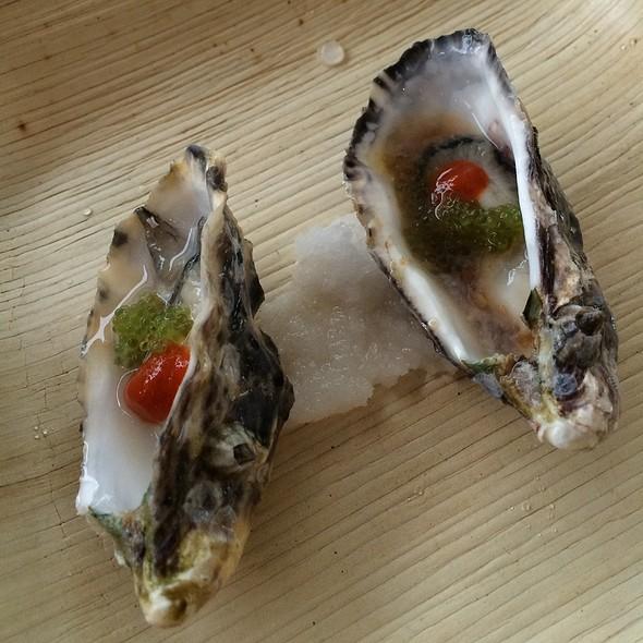 Kualoa Oysters With Yuzu Mignonette @ Kualoa Ranch