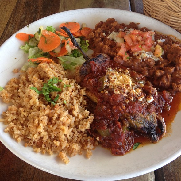 Chile Relleno With Charro Beans And Rice - Maria's Cantina, Woodland, CA