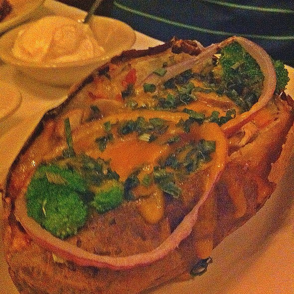 loaded baked potato @ The Tree Steakhouse