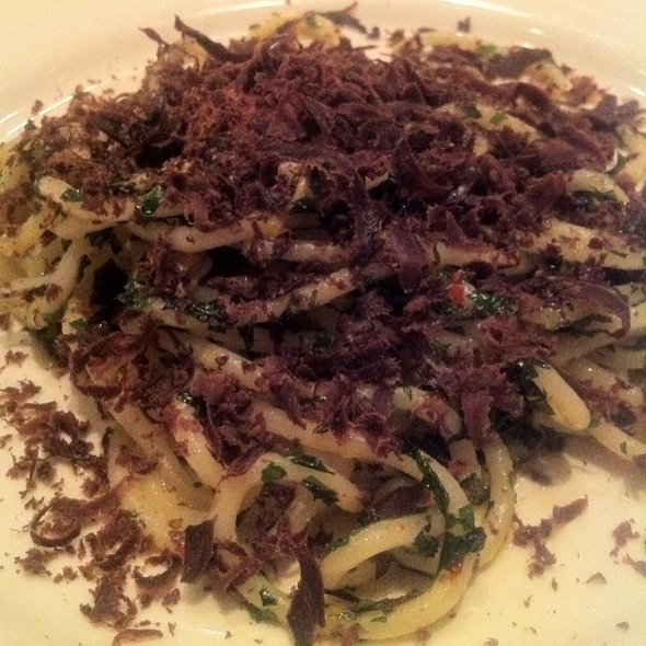 Spaghetti, Sardinian Cured Tuna Heart, Egg Yolk, Parsley @ Incanto