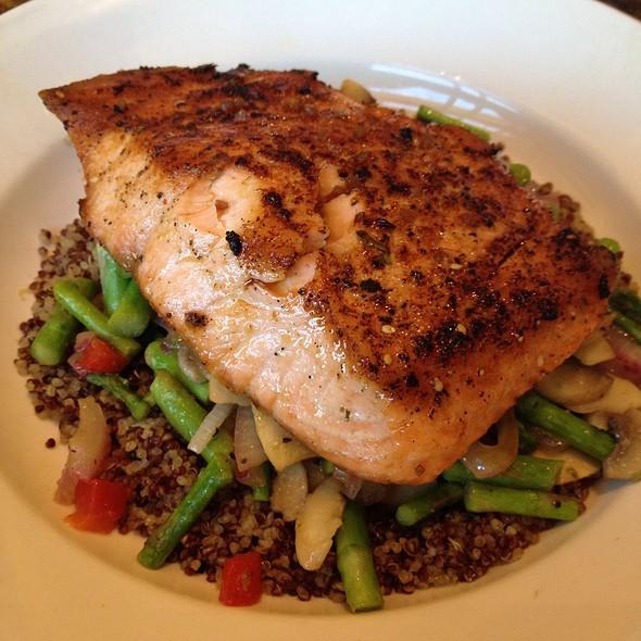 Salmon Quinoa Bowl @ BJ's Brewhouse