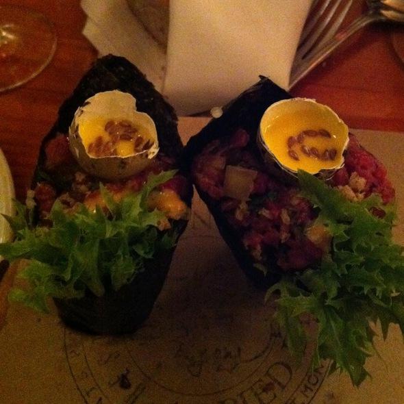 Beef Tartare @ Restaurant au Pied de Cochon
