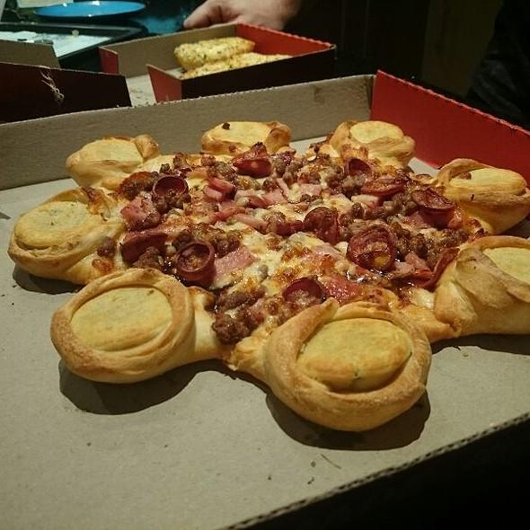 Meat Feast Pizza With Four And Twenty Pie Stuffed Crust