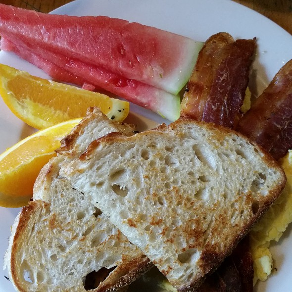 Eggs, Bacon And Fruit @ Nashoba Brook Bakery