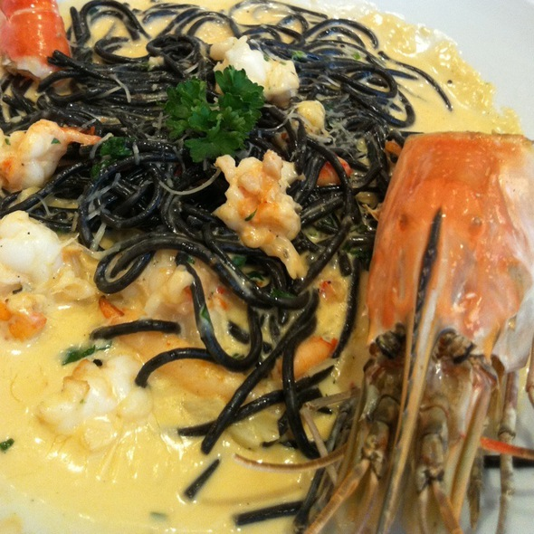Spaghetti River Prawn With Cream Sauce @ Coffee Beans by Dao - Ruam Rudi