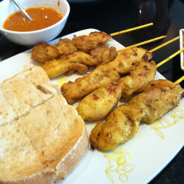 Chicken satay @ Coffee Beans by Dao - Ruam Rudi