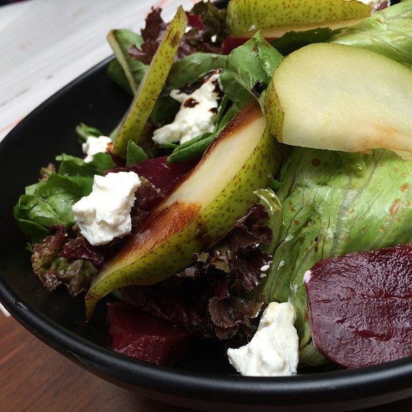 Pear, Beet, Chevre Salad With Goat Cheese @ Todi Mills Social