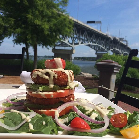 Salmon Cake Stacker - Riverwalk Restaurant - Yorktown, Yorktown, VA