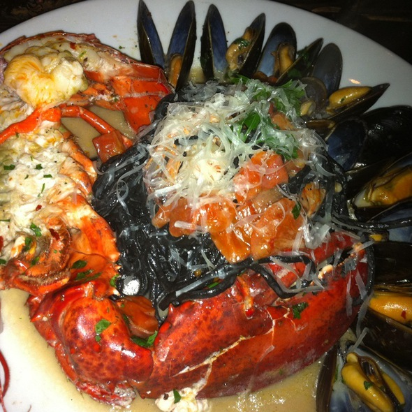 Squid Ink Pasta With Seafood @ La Carbonara