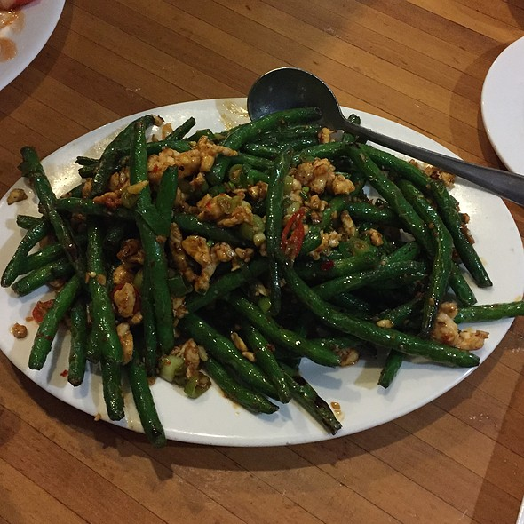 Spicy Stir Fried Yard Long Beans with Minced Chicken