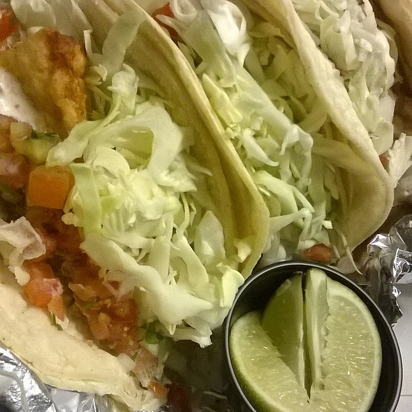 fish tacos @ Zaba's Mexican Grill