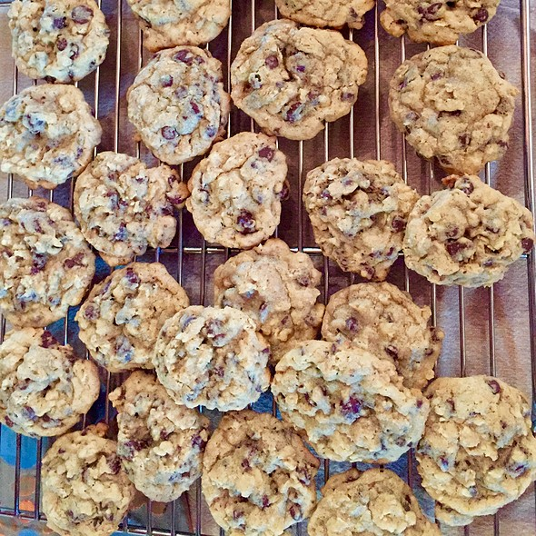 Chocolate Chip Oatmeal Cookies @ Home