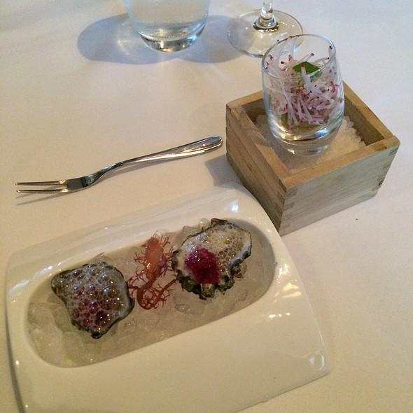 Kumamoto Oysters & Hamachi Shot