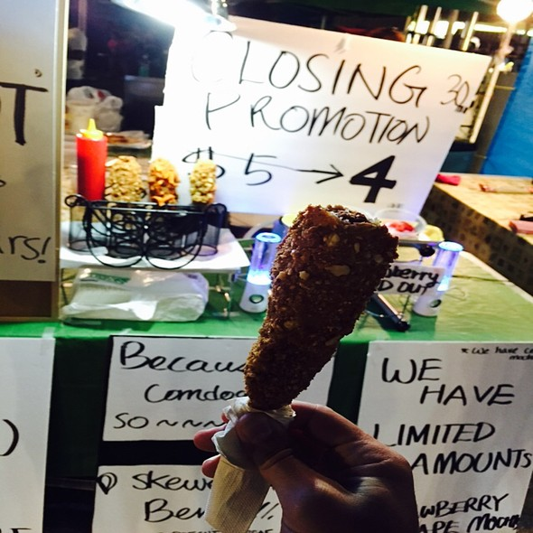 Almond Crusted Corn Dog @ The International Summer Night Market in Richmond