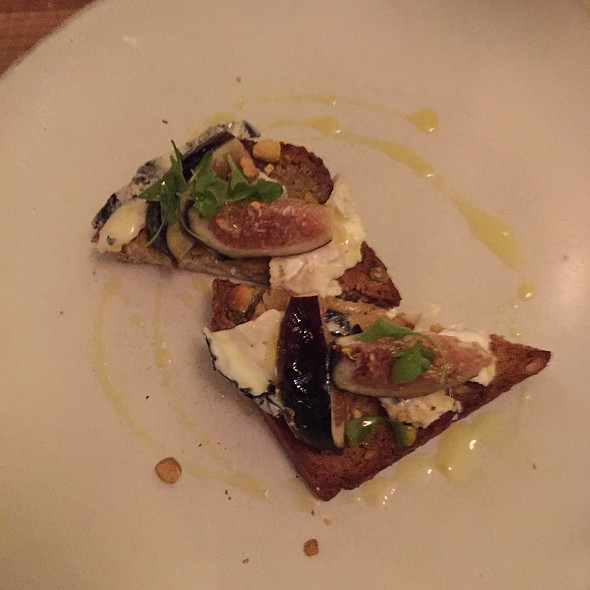 Bruschetta With Mission Figs And Goat Cheese @ Acanto