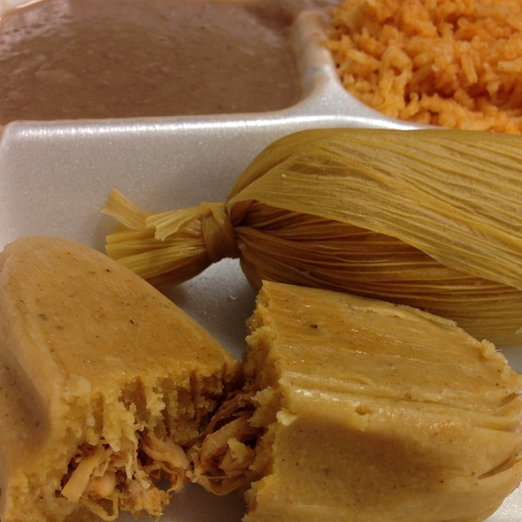 Tamales, Rice & Beans @ Tamales Chepo