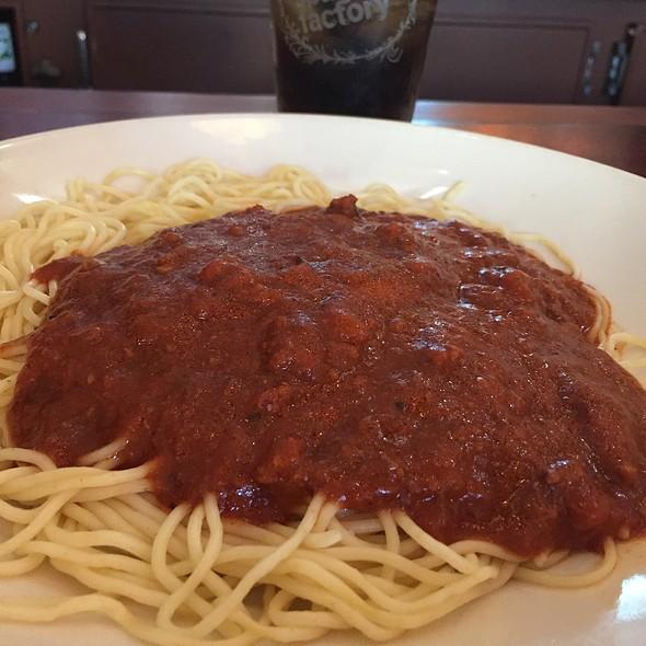 Spaghetti & Meatsauce  @ Old Spaghetti Factory