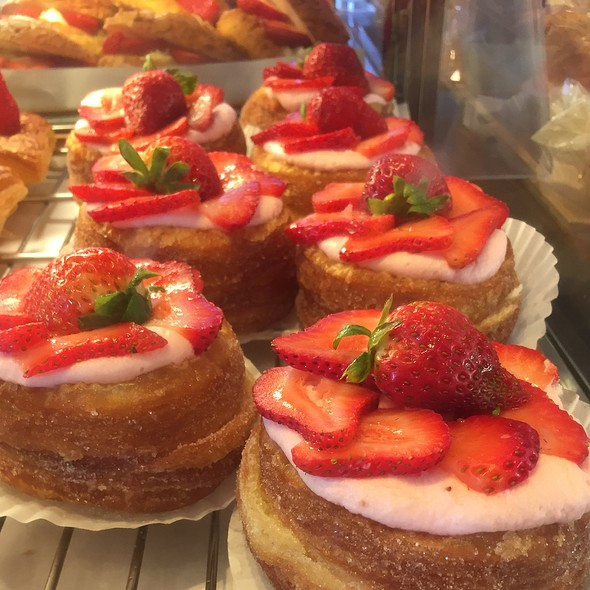 Strawberry Croissant Donut @ Paris Baguette