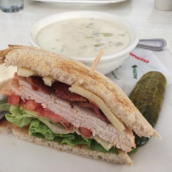 Clam Chowder & 1/2 Turkey Sandwich - Max's Opera Cafe, San Francisco, CA