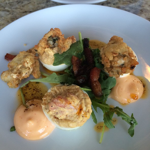 Deviled Eggs With Fried Oysters - Marker 32, Jacksonville, FL