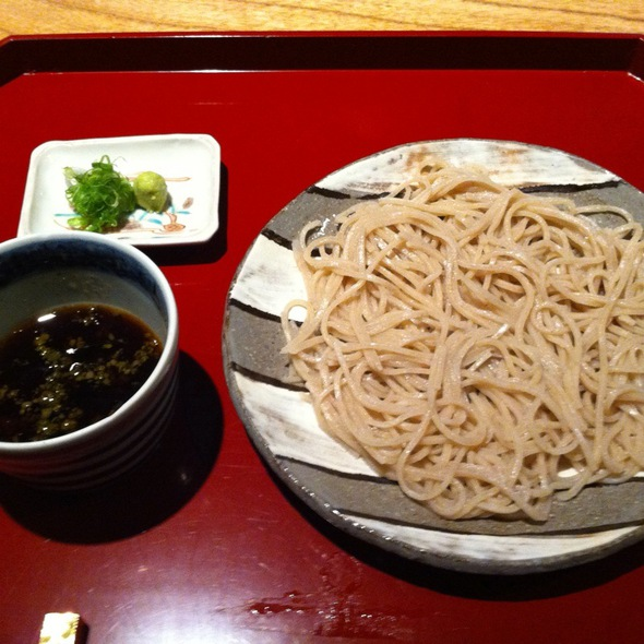 Housemade Soba With Warm Dipping Sauce @ Kajitsu